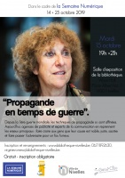 Conférence Anne Morelli : 15/10 19h-21h